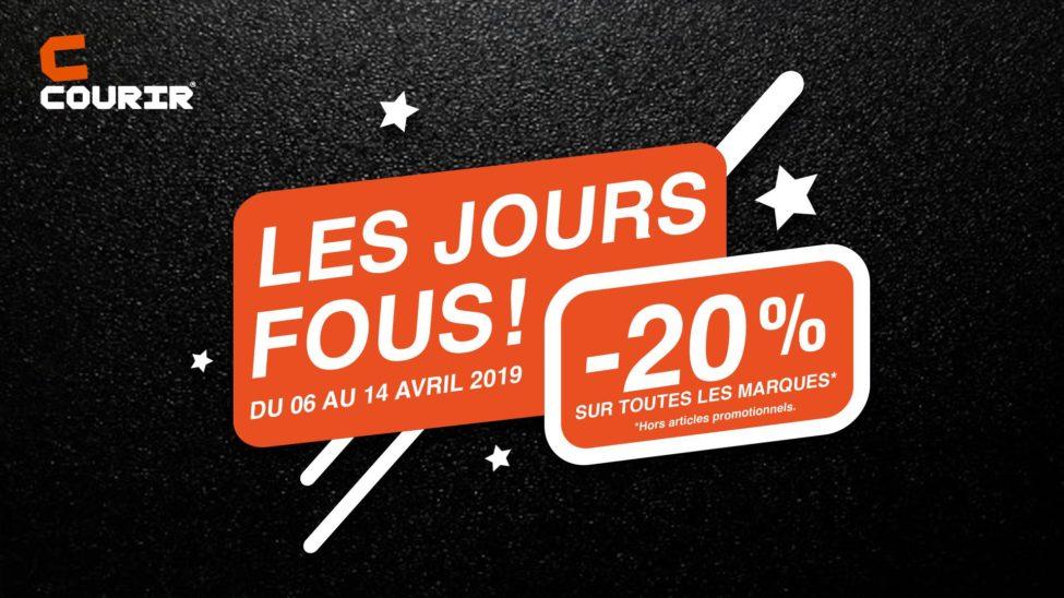JOURS FOUS Courir Maroc 20% de remise du 6 au 14 Avril 2019