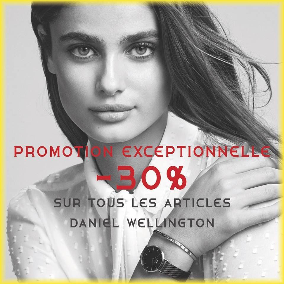Promo Exceptionnel Tous les articles Daniel Wellington Maroc sont à -30%