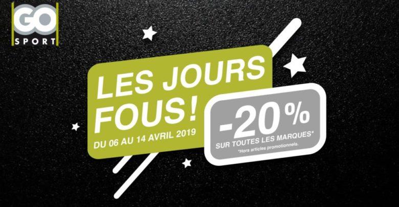 Photo of Les Jours Fous Go Sport Maroc 20% de remise jusqu'au 14 Avril 2019
