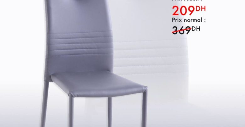 Photo of Liquidation Kaoba Ameublement Chaise grise ASTRO 209Dhs au lieu de 369Dhs
