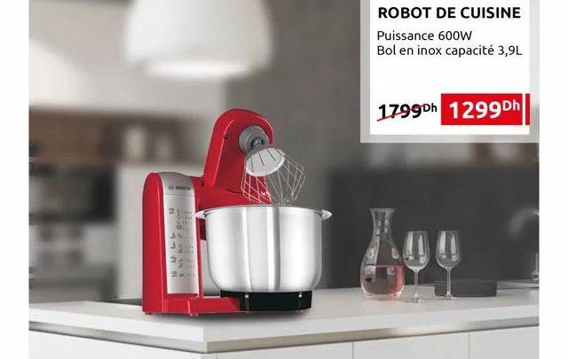 Photo of Promo Mr Bricolage Maroc Robot de cuisine Bosch 1299Dhs au lieu de 1799Dhs