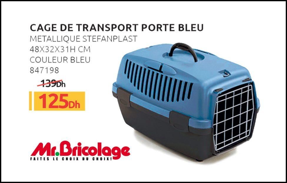 Promo Mr Bricolage Maroc Cage de transport STEFANPLAST 125Dhs au lieu de 139Dhs