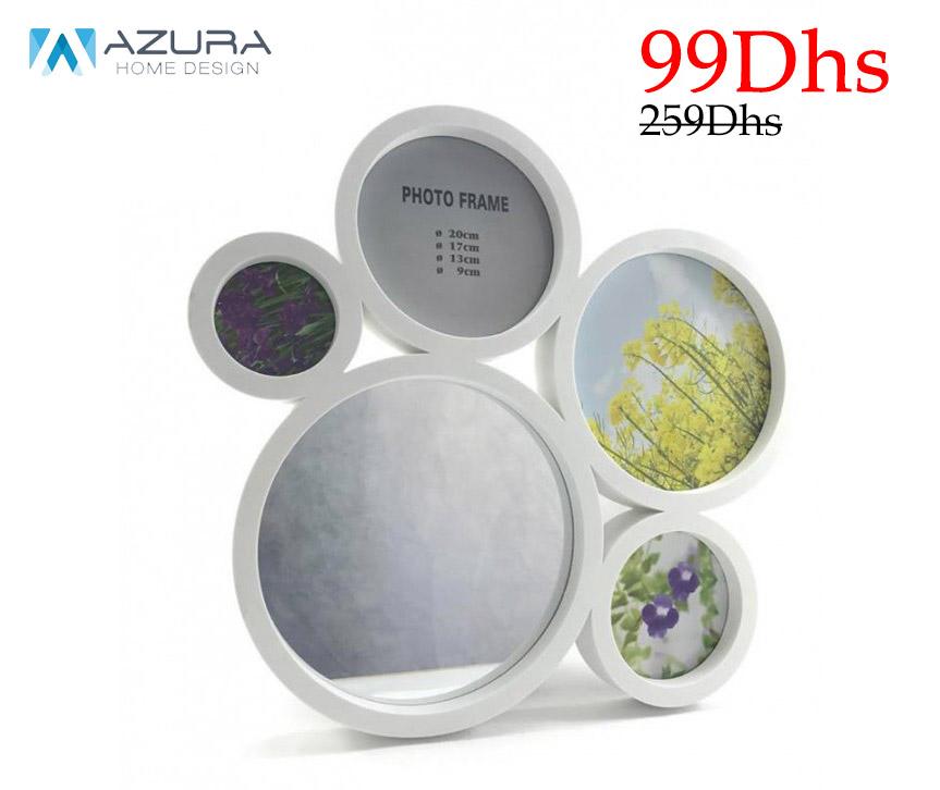 Soldes Azura Home Pêle mêle 4 vues et miroir 99Dhs au lieu de 259Dhs