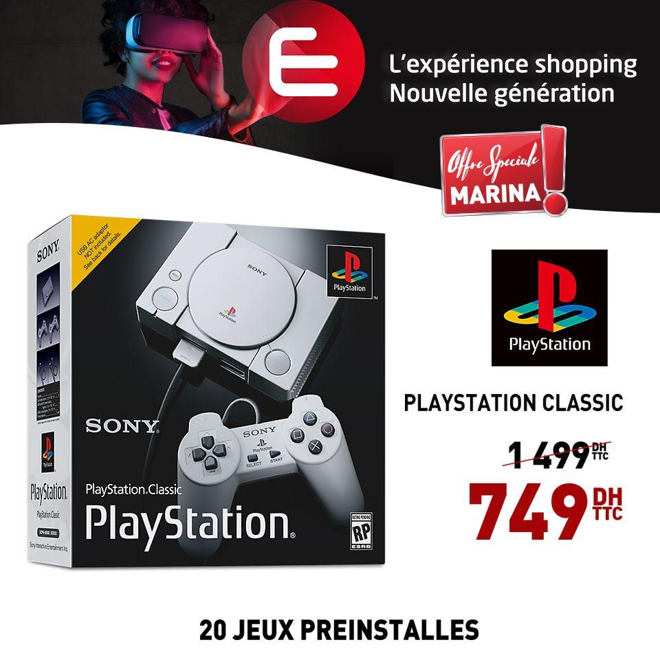 Promo Electroplanet SONY PlayStationClassic 749Dhs au lieu de 1499Dhs