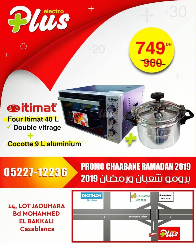 Promo Electroplus Four ITIMAT 40L + Cocotte 9L 749Dhs au lieu de 900Dhs