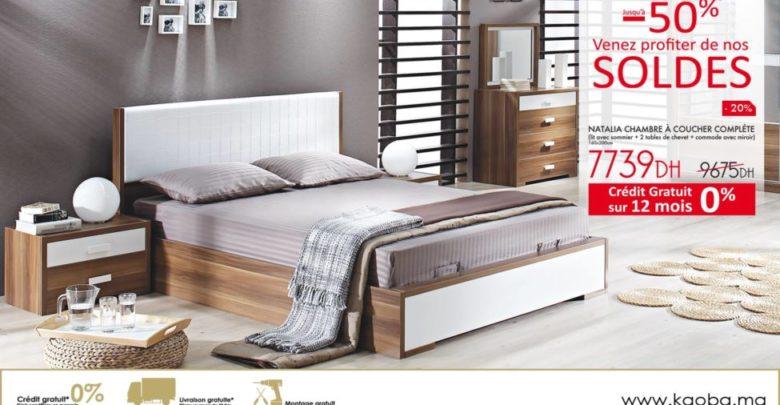 Photo of Soldes Kaoba Ameublement Chambra à coucher complète NATALIA 7739Dhs au lieu de 9675Dhs