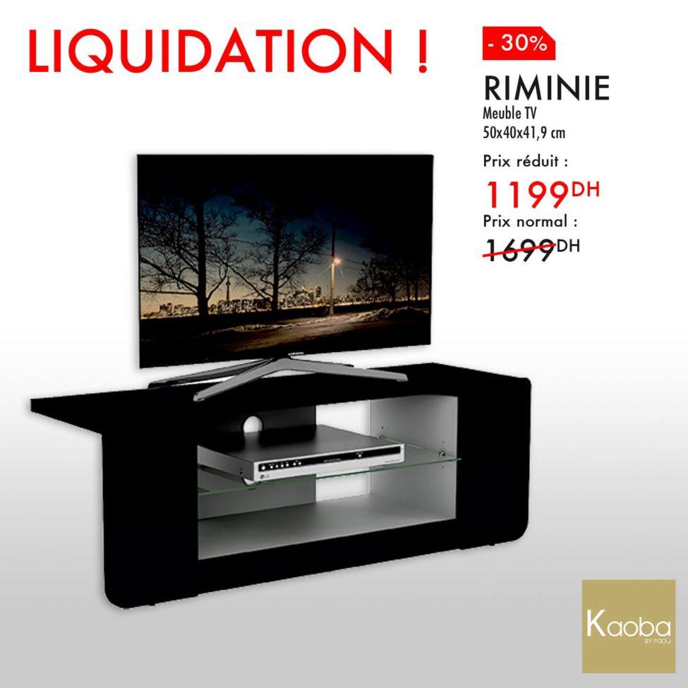 Liquidation Kaoba Ameublement Meuble TV RIMINIE 1199Dhs au lieu de 1699Dhs