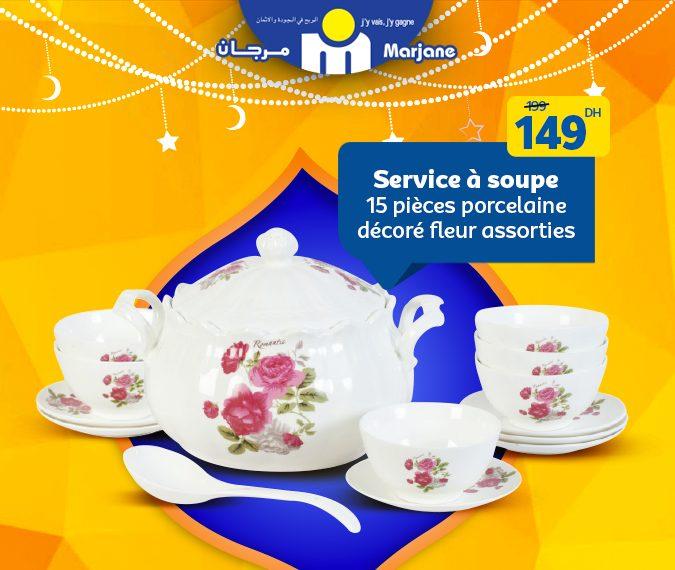 Promo Spéciale Ramadan 2019 chez Marjane Service Soupe à partir de 99Dhs