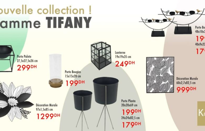Nouvelle collection Gamme TIFANY chez Kaoba Ameublement