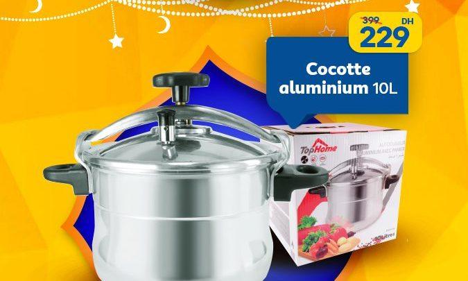 Photo of Soldes Marjane Cocotte aluminium 10L 229Dhs au lieu de 399Dhs