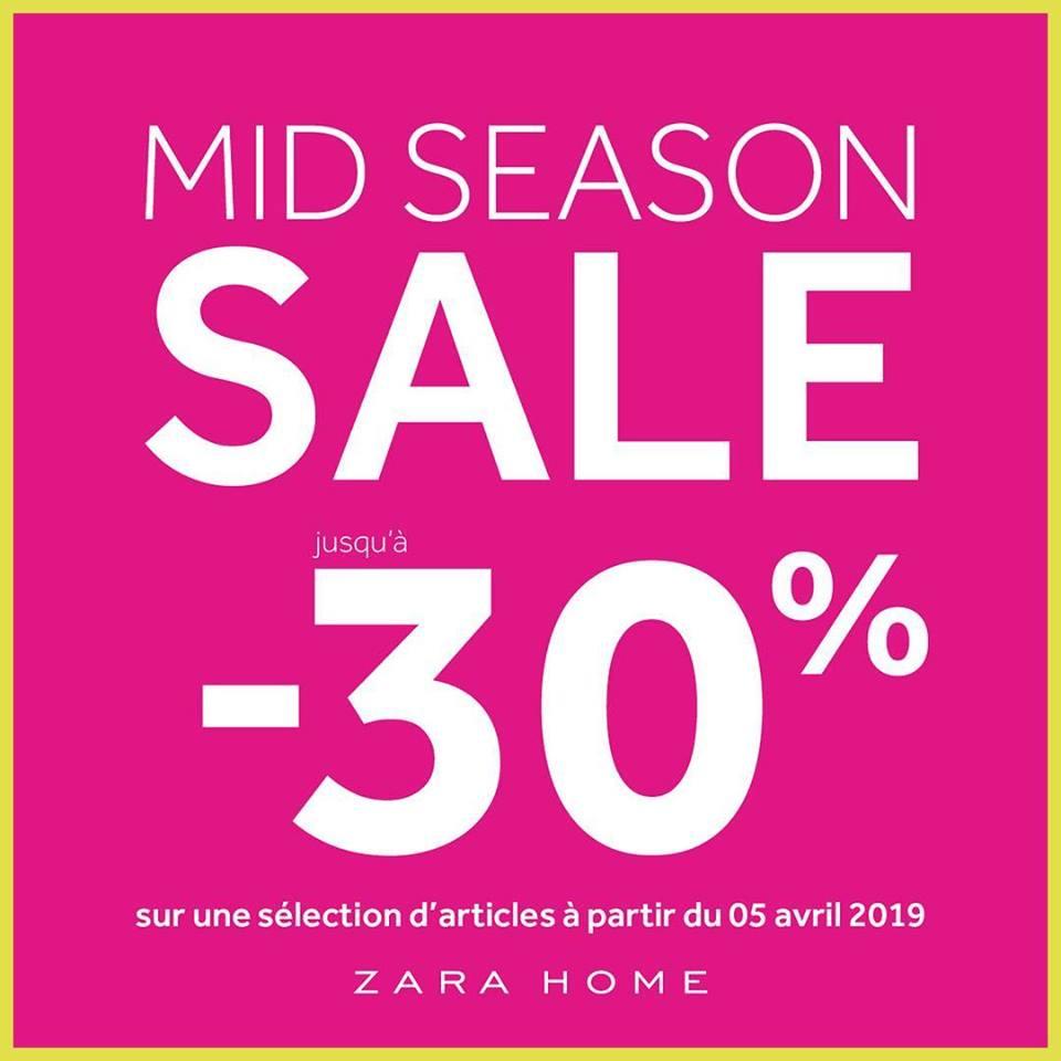 Soldes Mi-saison Zara Home Maroc Jusqu'à -30% de remise