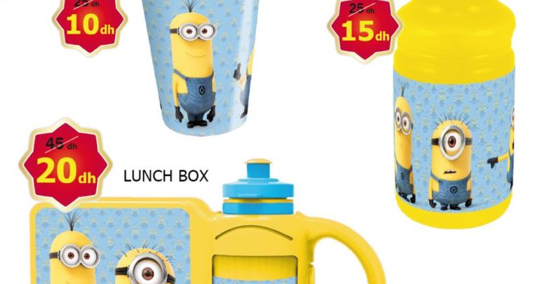Photo of Promo Alpha55 Lunch Box et Gourde et set de déjeuner pour enfants