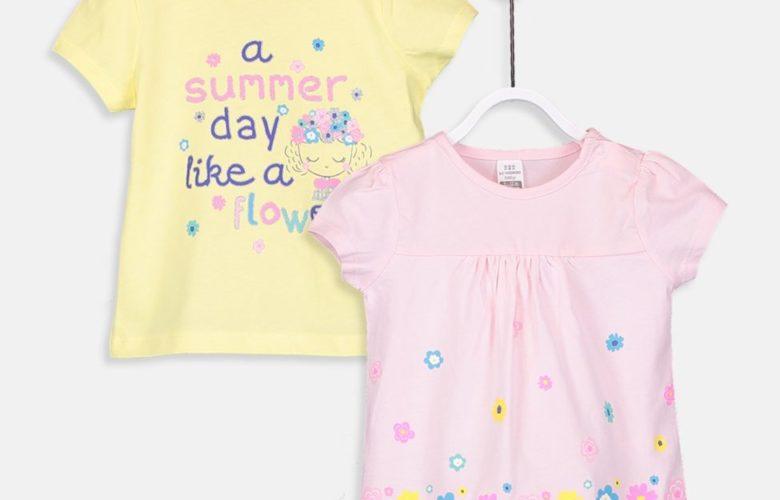 Soldes Lc Waikiki Maroc Série Tee-shirt bébé fille 69Dhs au lieu de 89Dhs