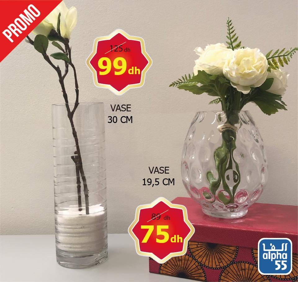 Promo Alpha55 Large choix de vases haut de gamme décoratifs à partir de 75Dhs