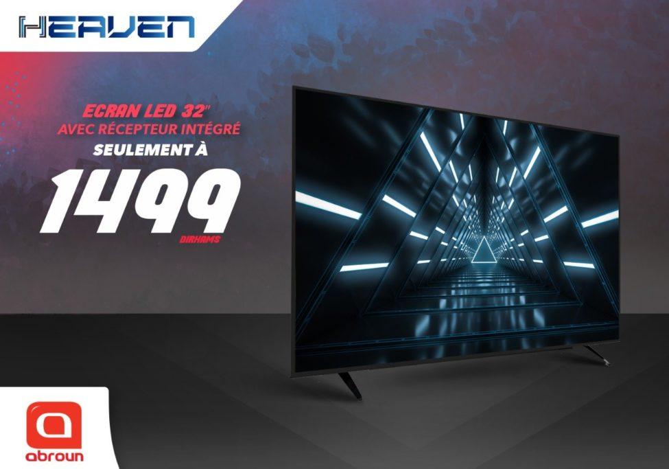 Offre Spéciale chez Abroun Electro TV Led 32° récepteur intégré à partir de 1499Dhs