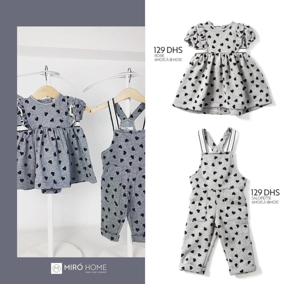 Nouvelle collection de vêtement pour enfants chez Miro Home