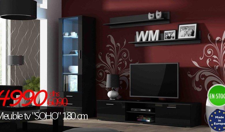 Promo Azura Home MEUBLE TV SOHO NOIR OU BLANC 4990Dhs au lieu de 6090Dhs
