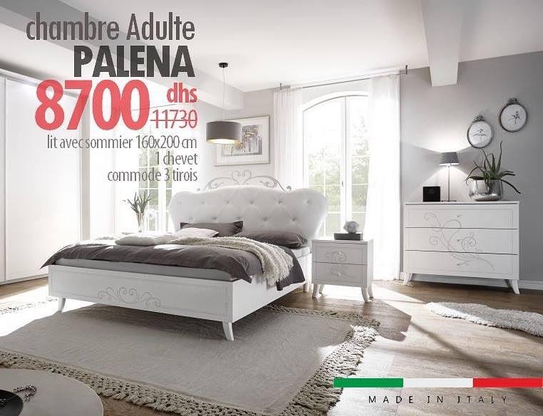Soldes Azura Home Chambre complète PALENA 8700Dhs au lieu de 11730Dhs