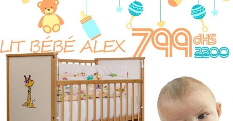 Promo Azura Home LIT BÉBÉ ALEX 60*120CM NATURE 799Dhs au lieu de 2750Dhs