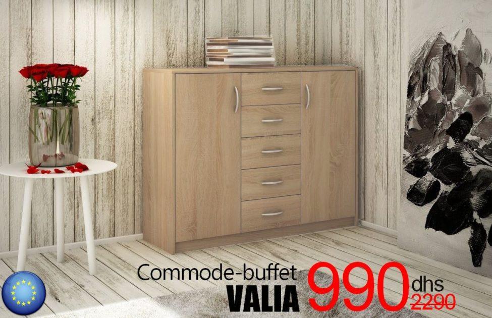 Promo Azura Home Commode-buffet VALIA 2 portes 5 Tiroirs 990Dhs au lieu de 2290Dhs