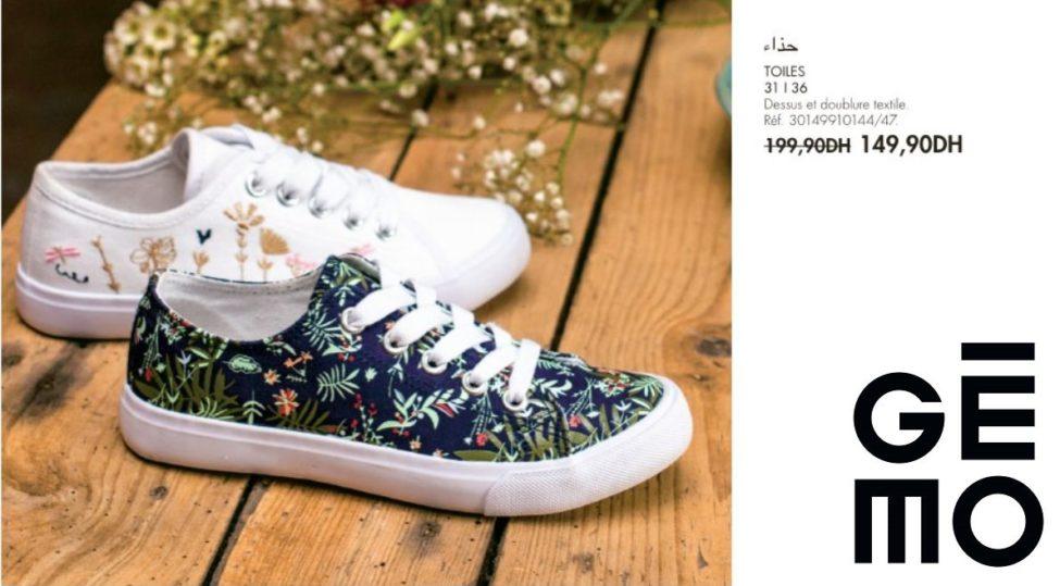 Promo Gémo Maroc Chaussure TOILES 149Dhs au lieu de 199Dhs