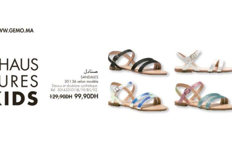 Promo Gémo Maroc Sandales pour fille 99Dhs au lieu de 129Dhs