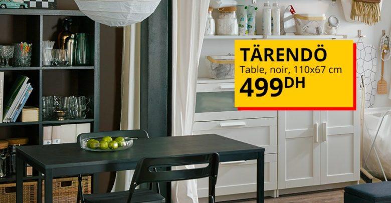 Photo of Offre Spéciale Ikea Maroc Table noir TÄRENDÖ 499Dhs