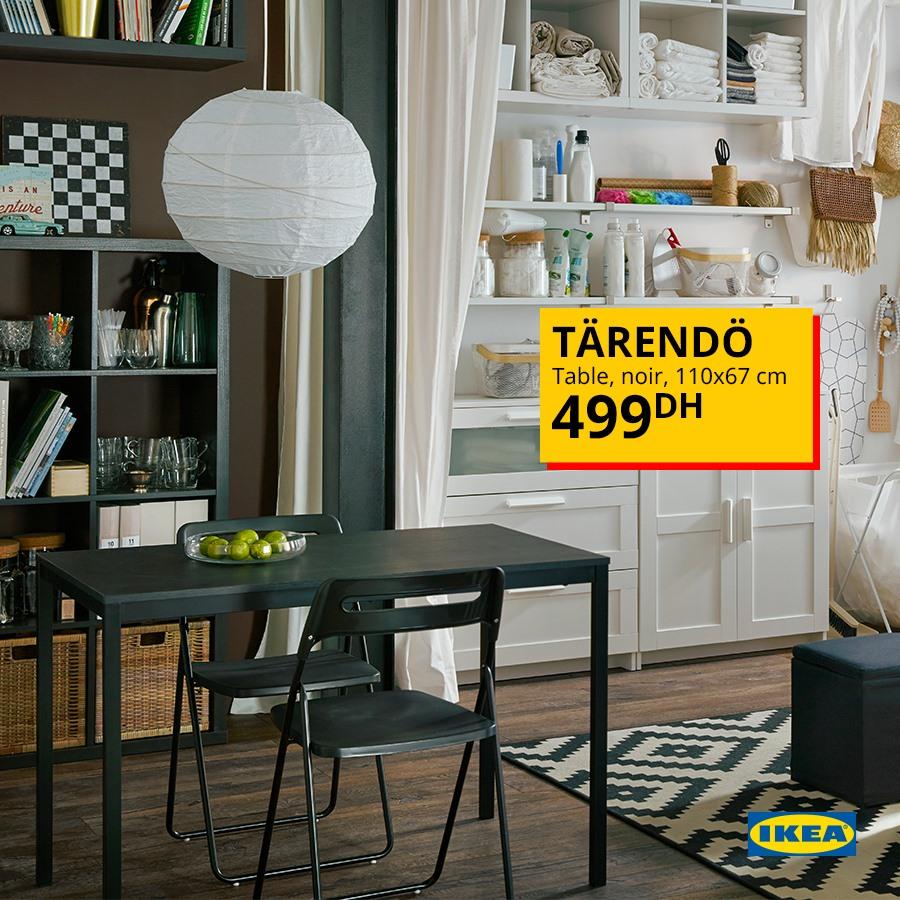 Offre Spéciale Ikea Maroc Table noir TÄRENDÖ 499Dhs