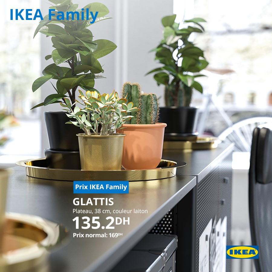 Promo Ikea Family Plateau GLATTIS 135Dhs au lieu de 169Dhs