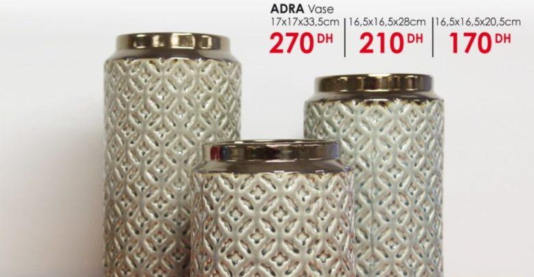 Photo of Nouvelle Collection KAOBA Ameublement sur les vase ADRA à partir de 170Dhs