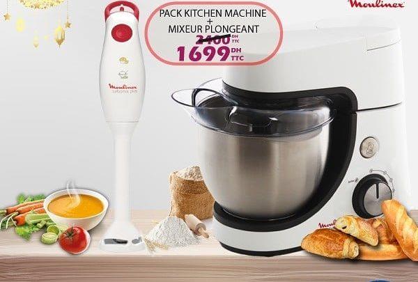 Photo of Promo Tangerois Electro Kitchen machine + mixeur plongeant MOULINEX 1699Dhs au lieu de 2400Dhs