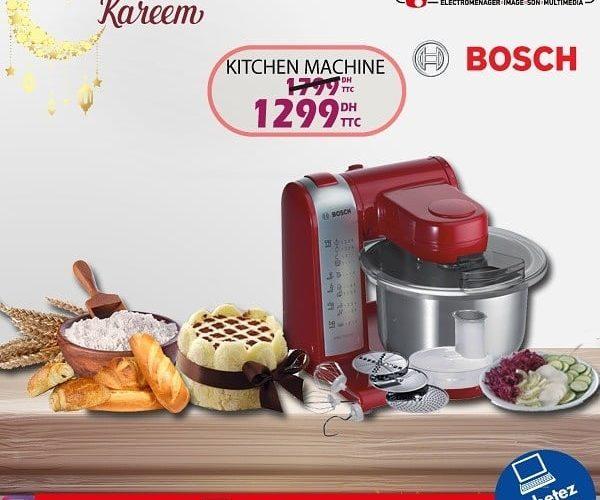 Promo Tangerois Electro Kitchen Machine BOSCH 1299Dhs au lieu de 1799Dhs