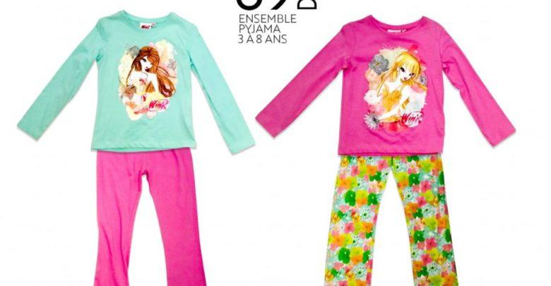 Soldes Miro Home Ensemble Pyjamas pour fille 3 à 8 ans 69Dhs au lieu de 119Dhs