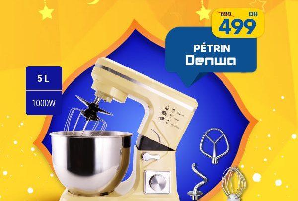 Photo of Promo Marjane Pétrin DENWA 5L 1000W 499Dhs au lieu de 699Dhs