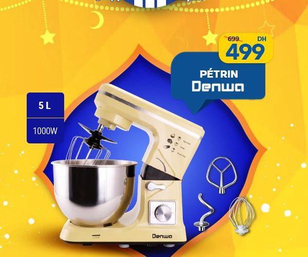 Promo Marjane Pétrin DENWA 5L 1000W 499Dhs au lieu de 699Dhs