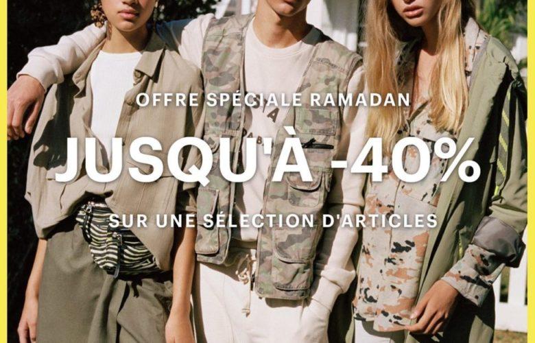 Offre Spécial Ramadan Pull&Bear Maroc jusqu'à -40 % sur une sélection d'articles