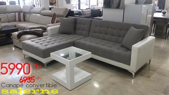 Photo of Soldes Azura Home Canapé d'angle SALERNE grey 5990Dhs au lieu de 6934Dhs