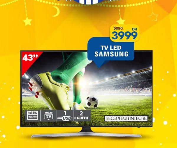Promo Marjane Smart TV FHD 43° SAMSUNG 3999Dhs au lieu de 5090Dhs