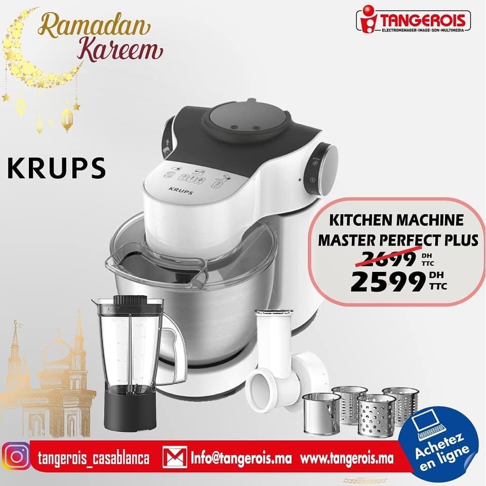 Promo Tangerois Electro Kitchen machine KRUPS 2599Dhs au lieu de 2699Dhs