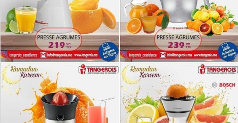 Collection variée de Presse-agrumes chez Tangerois Electro