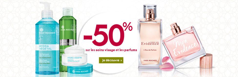 Promo Yves Rocher Maroc -50% sur les soins visage et les parfums