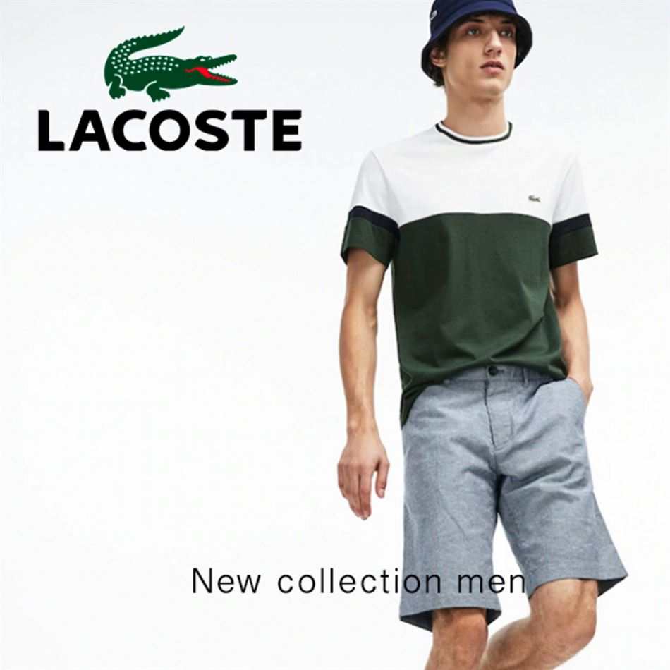 Lookbook LACOSTE New Collection Men du 13 Juin au 5 Août 2019