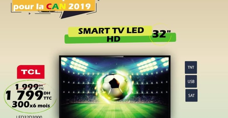 Photo of Promo Tangerois Electro Smart TV TCL 32° HD TNT SAT 1799Dhs au lieu de 1999Dhs