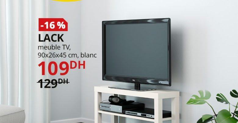 Photo of Promo Ikea Maroc Meuble TV blanc LACK 109Dhs au lieu de 129Dhs