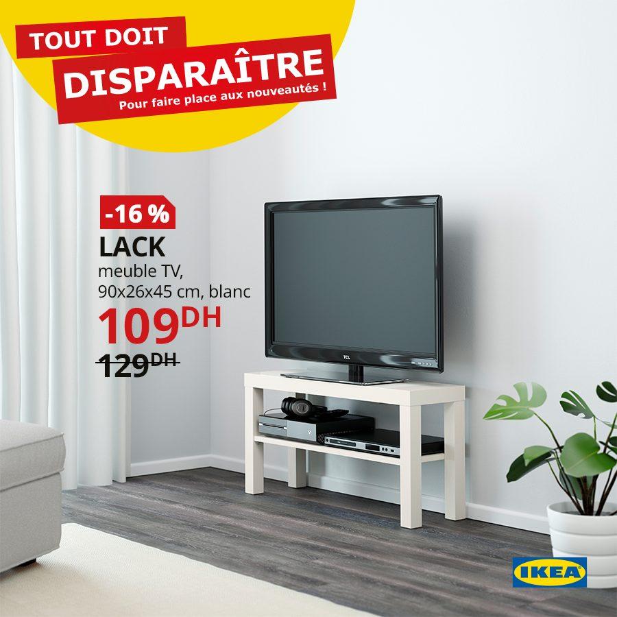 Promo ikea maroc meuble tv blanc lack 109dhs au lieu de 129dhs solde et promotion du maroc - Ikea meuble tv lack ...