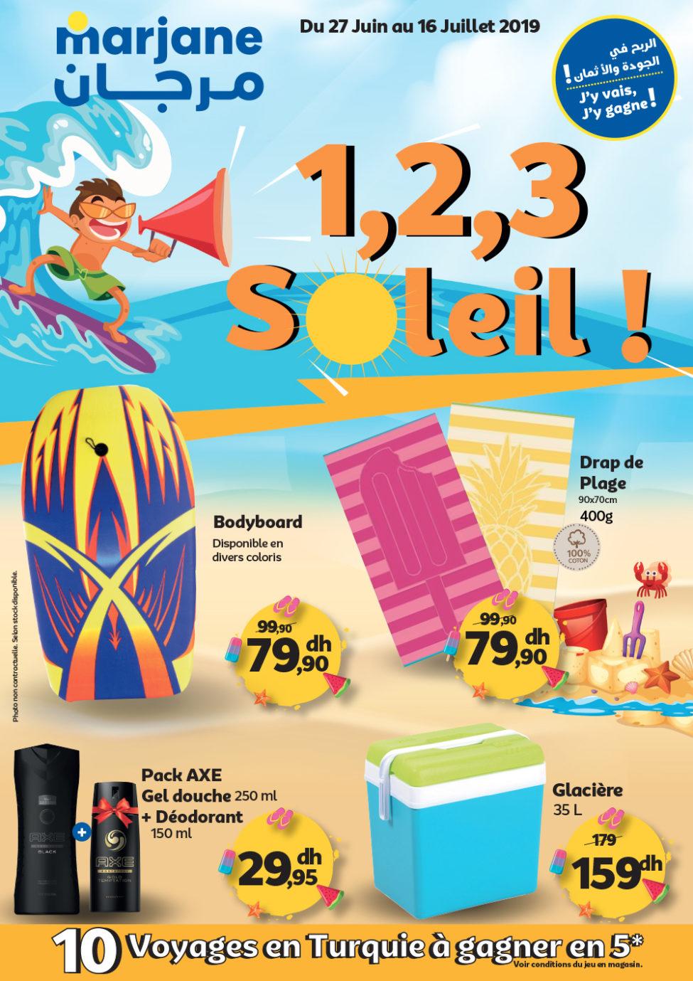 Catalogue Marjane Soleil du 27 Juin au 16 Juillet 2019