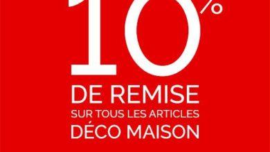 Promo Virgin Megastore Maroc -10% sur tous les articles Déco maison