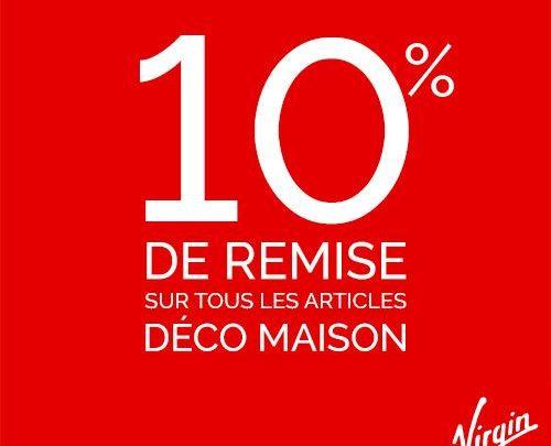 Photo of Promo Virgin Megastore Maroc -10% sur tous les articles Déco maison