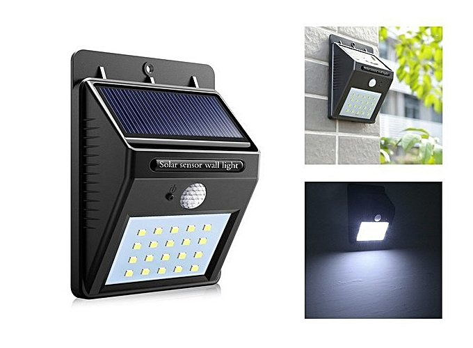 Offre Jumia LED solaire avec détecteur de mouvement Solar 89Dhs au lieu de 199Dhs