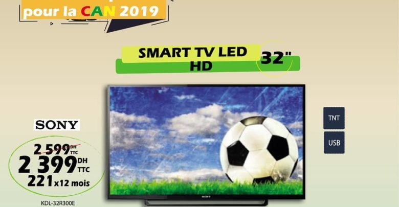 Photo of Promo Tangerois Electro Smart TV 32° HD SONY 2399Dhs au lieu de 2599Dhs